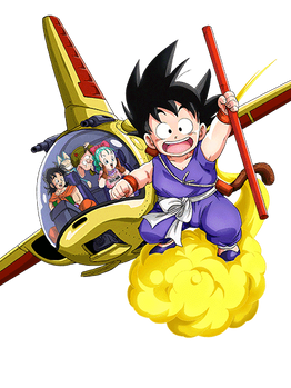 Kid Goku and friends render [Dokkan Battle]