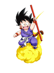 Kid Goku blue suit render 2 [Dokkan Battle]
