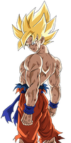 Goku SSJ (Namek saga) render 13 [Dokkan Battle]