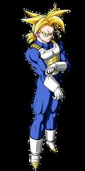 Future Trunks ssj saiyan armor render [Tag Team] by maxiuchiha22