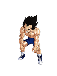 Vegeta Training render [Dokkan Battle] by maxiuchiha22