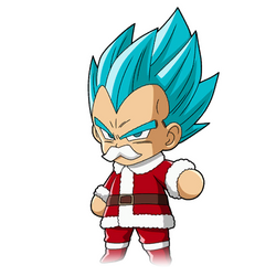 Vegeta ssgss Christmas render [Fighter Z] by maxiuchiha22
