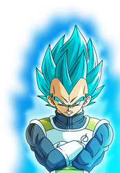 Vegeta SSGSS (Resurrection 'F') render 2[Xkeeperz] by maxiuchiha22
