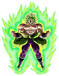 Broly SSJ (Broly Movie 2018) render 10 [Dokkan B.] by maxiuchiha22