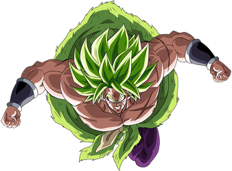 Broly SSJ (Broly Movie 2018) render 11 [Dokkan B.] by maxiuchiha22