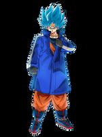 Goku SSGSS (Broly Movie 2018) render [Dokkan B.] by maxiuchiha22