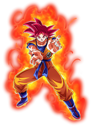 Goku Super Saiyan God render 4 [Dokkan Battle] by maxiuchiha22