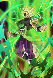 Broly SSJ (Broly Movie 2018)card [Bucchigiri M.] by maxiuchiha22