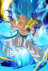 Gogeta SSGSS (Broly Movie 2018)card[Bucchigiri M.] by maxiuchiha22