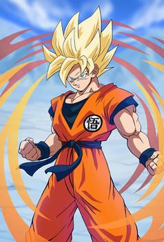 Goku SSJ (Broly Movie 2018)card [Bucchigiri M.]