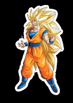 Goku SSJ3 render [Bucchigiri Match]