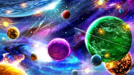 Planets BG [DBS card game] by maxiuchiha22