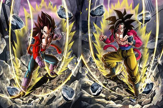 Goku - Vegeta SSJ4 Cards [Dokkan Battle]
