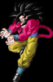 Goku SSJ4 render 3 [Dokkan Battle]