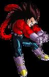 Vegeta SSJ4 render 3 [Dokkan Battle]