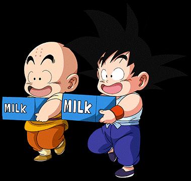 Kid Goku Krillin Render Milk Dokkan Battle By