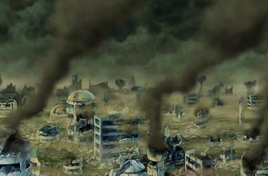 Destroyed City BG [DB Legends] by maxiuchiha22