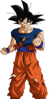 Goku damaged clothes (Buu Saga) render [Xkeeperz] by maxiuchiha22