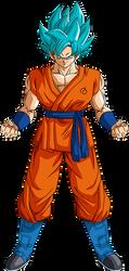 Goku SSGSS Resurrection 'F' render [Xkeeperz] by maxiuchiha22