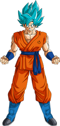 Goku SSGSS Resurrection 'F' render 2 [Xkeeperz] by maxiuchiha22