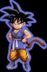 Kid Goku (GT) render [FighterZ] by maxiuchiha22