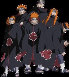 Six Paths of Pain render [Ultimate Ninja Heroes 3] by maxiuchiha22