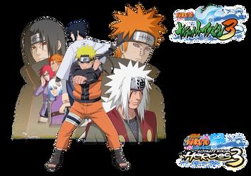 Naruto Shippuden Ultimate Ninja Heroes 3 render by maxiuchiha22