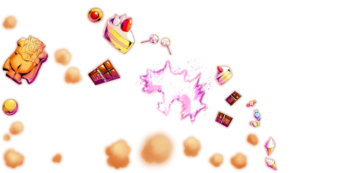 Majin Buu chocolates render [DB Legends]