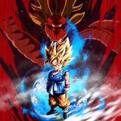 Kid Goku SSJ (GT) BG [DB Legends] by maxiuchiha22