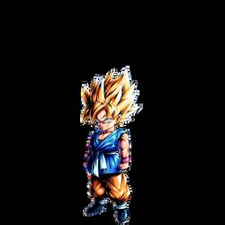 Kid Goku SSJ (GT) render [DB Legends] by maxiuchiha22