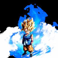 Kid Goku SSJ (GT) render 2 [DB Legends]