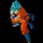 Goku (Gi) SSGSS render 2 [SDBH World Mission] by Maxiuchiha22