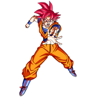 Goku SSG render 2 [SDBH World Mission] by maxiuchiha22