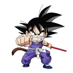 Kid Goku blue suit render [SDBH World Mission]