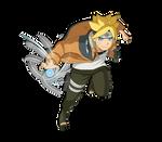 Boruto (Naruto's Outfit) render [Road to Boruto]
