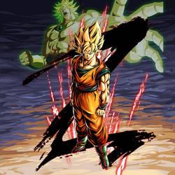 Goku SSJ BG 2 [DB Legends] by maxiuchiha22