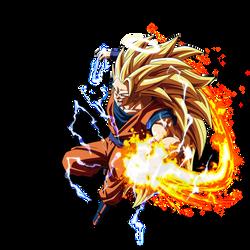 Goku SSJ3 (Aureole) render [DB Legends] by maxiuchiha22