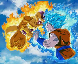 Goku SSGSS Vs Frieza BG [DB Legends] by maxiuchiha22