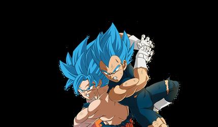 Goku - Vegeta SSGSS render [Bucchigiri Match]
