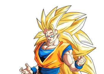 Goku SSJ3 render reaction 3 [Bucchigiri Match] by maxiuchiha22