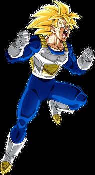 Goku SSJ (Armor) render [Dokkan Battle]