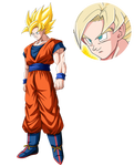 Goku SSJ render [Dokkan Battle]