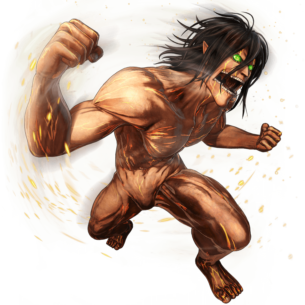 Eren Jaeger (Titan) render [Attack on Titan 2] by maxiuchiha22 on ...