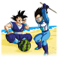 Goku - Vegeta (Summer) render [FighterZ]