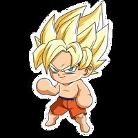 Chibi Goku SSJ (Summer) render [FighterZ]