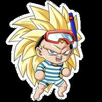 Chibi Gotenks SSJ3 (Summer) render [FighterZ]
