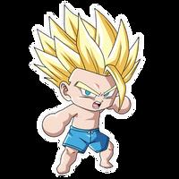 Chibi Teen Gohan SSJ2 (Summer) render [FighterZ]