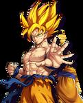 Goku SSJ (Namek Saga) render [Awakening]