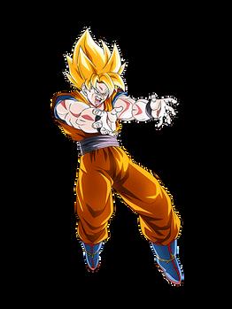 Goku SSJ (568px) render 2[Dokkan Battle]