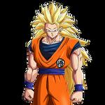 Son Goku SSJ3 render [DB Legends]